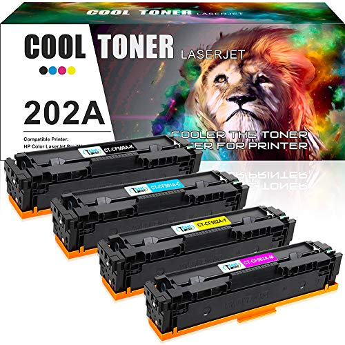 Cool Toner Compatible Toner Cartridge Replacement for HP M281fdw CF500A CF500X HP 202A 202X for HP Laserjet Pro MFP M281fdw M254dw M281cdw M281dw M280nw M254 M281 CF501A CF502A CF503A Ink Printer-4PK
