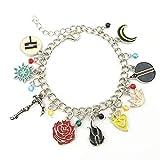 Superheroes Brand Ruby Rose RWBY Charm Bracelet Anime Manga TV Cosplay Jewelry Gift Series