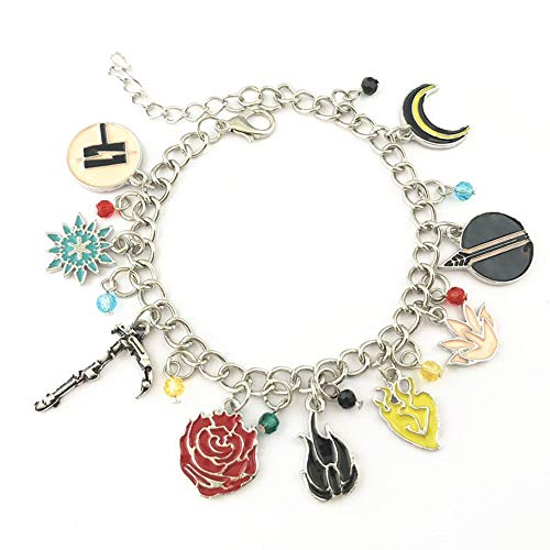 RWBY Anime Manga Charm Bracelet Quality Cosplay Jewelry Series with Gift Box