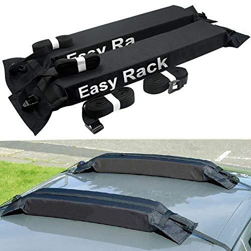Younar 2PCS Universal Car Soft Roof Rack Luggage Carrier Surfboard Paddleboard Anti-Vibration Adjustable and Heavy Duty Straps for Car Vehicles SUV Pickup