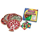 Learning Resources LER5060 Pizza Fraction Fun Math Game, for Grades 1 and Up (LRNLER5060)