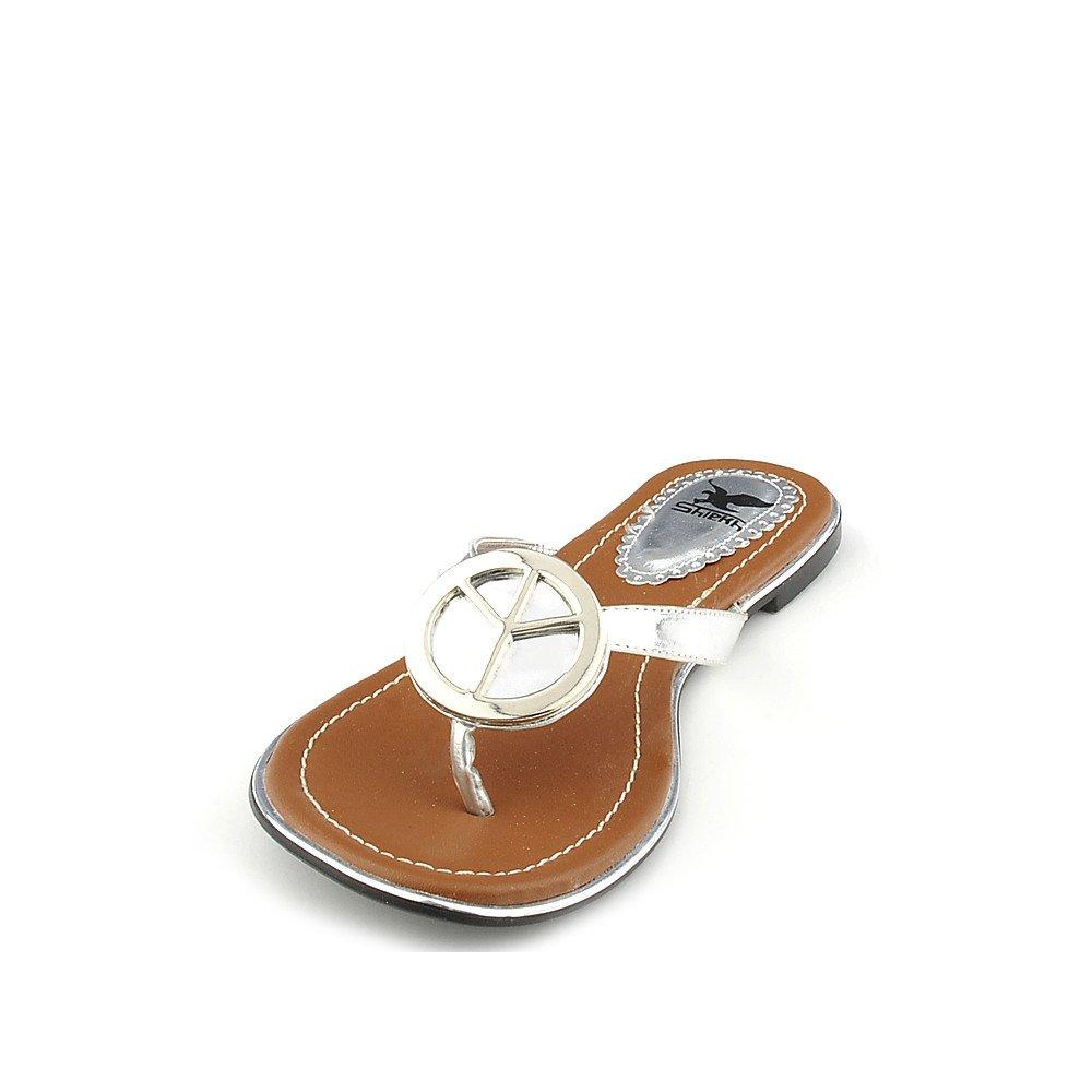 Womens Florinda-10 Thong Flip Flop Sandal Silver