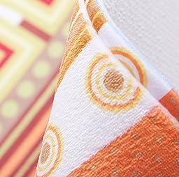 Wolala Home™3-Piece Ethnic Geometric Stripes Design Kitchen Rug Runner Sets Bathroom Memory Foam Rug Super Soft Coral Fleece Bathroom Rug
