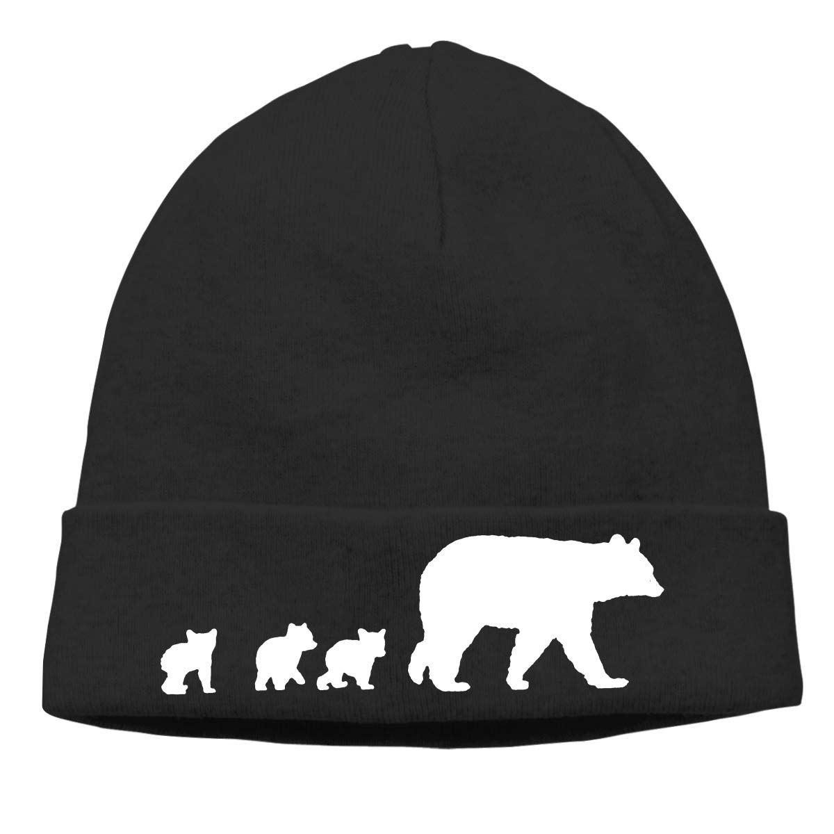 9cadb10ed2797e Amazon.com: Mama Bear and Her Cubs Beanie Hat Knit Cap Winter Unisex Skully  Hat: Clothing
