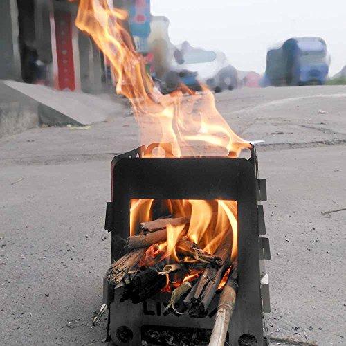Lixada Camping Stove Alcohol Wood Stove Lightweight, Compact, Durable Pot Pan Bowls Cookware Mess Kit for Outdoor Hiking Camping Picnic Stove(Optional)