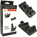 New World 3 in 1 Controller and Move Charger Stand for Sony PS3 PS4 Move Controller Charger (Black)
