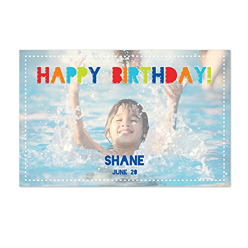 Personalized Paper Placemats - Happy Birthday Personalized Photo Paper Placemats