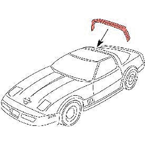 Eckler's Premier Quality Products 25-255358 - Corvette Rear Roof Weatherstrip Latex (Weather Stripping Corvette C4)