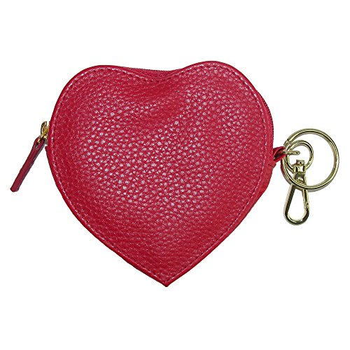 Buxton Pebble Pik-Me-Up Heart Coin Purse, red