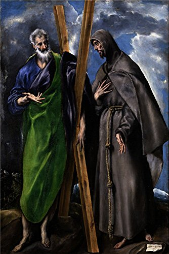 'El Greco Saint Andrew And Saint Francis Ca. 1595 ' Oil Painting, 12 X 18 Inch / 30 X 46 Cm ,printed On Polyster Canvas ,this Replica Art DecorativePrints On Canvas Is Perfectly Suitalbe For Hallway Decoration And Home Decor (Greco Painting)