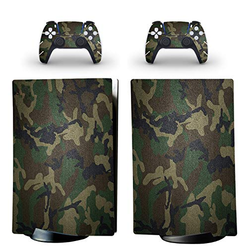 gotor Vinyl Skin Decals Cover Sticker for PS5 Playstation 5 Digital Edition Console and 2 Controllers Skins (Playstation 5 Digital Edition, A02)
