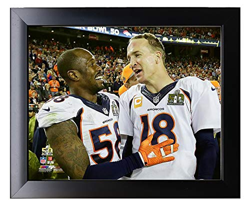 (Framed The Denver Broncos Peyton Manning & Von Miller During Super Bowl 50, 8x10 Photograph Picture)