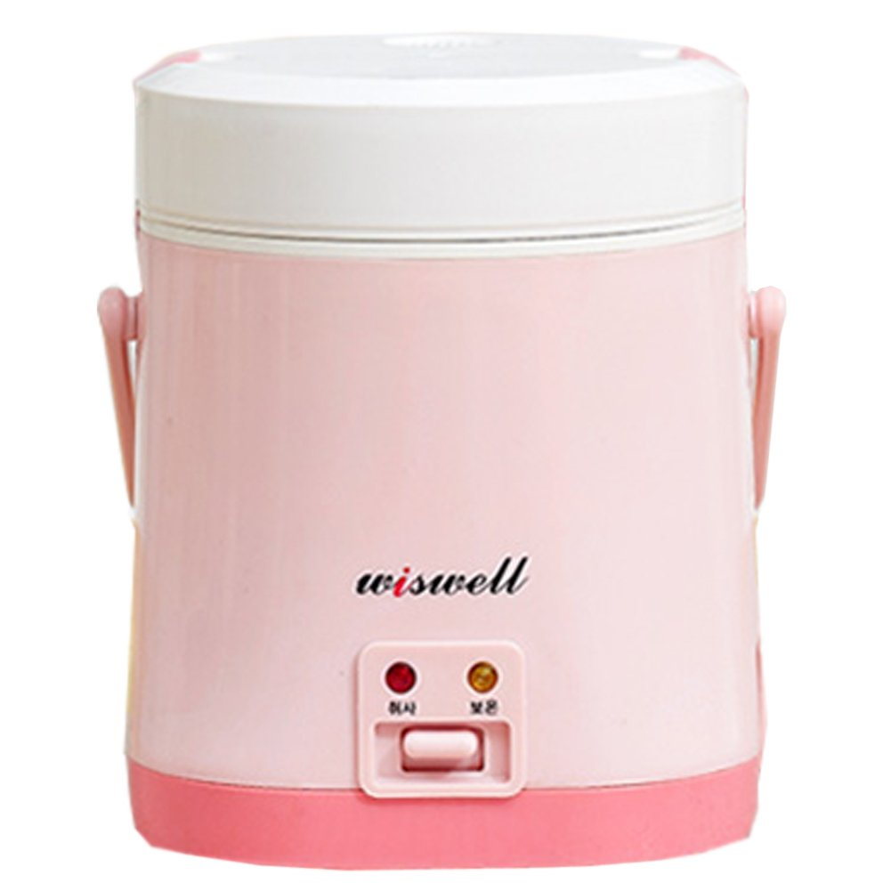 Wiswell Electric Mini Rice Cooker / Electric Lunch Boxes Style Rice Cooker/ Cooking Rice/mini Rice Cooker /Rice Cooker/electric Rice Cooker/ Cooking Rice (Pink)