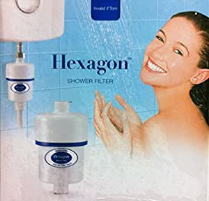 hexagontm r9696 shower filter essential water filter system easy installation. Black Bedroom Furniture Sets. Home Design Ideas