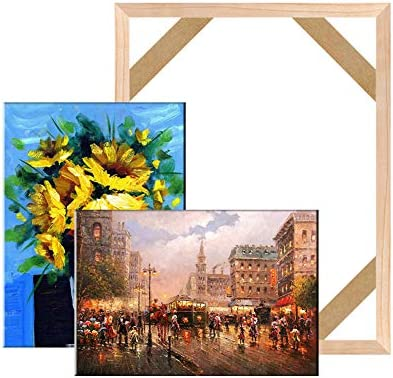 Stretcher Bars,Wood Canvas Frame Kit,DIY Canvas framm for Oil Painting,Art Stretcher Bars 40x45cm 16x18 Inch
