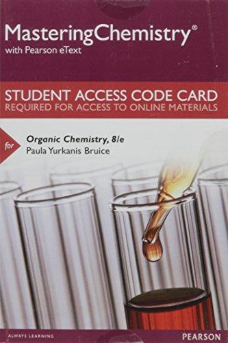 Organic Chemistry Masteringchem.Access