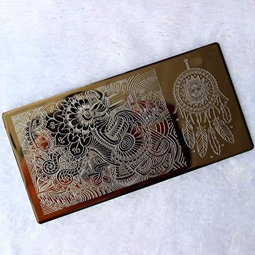 Pcs Feather Dream Catcher Nails Art Stamp Plates