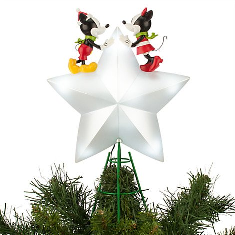 Disney Christmas Tree Topper Uk.Disney Mickey And Minnie Mouse Light Up Tree Topper Amazon