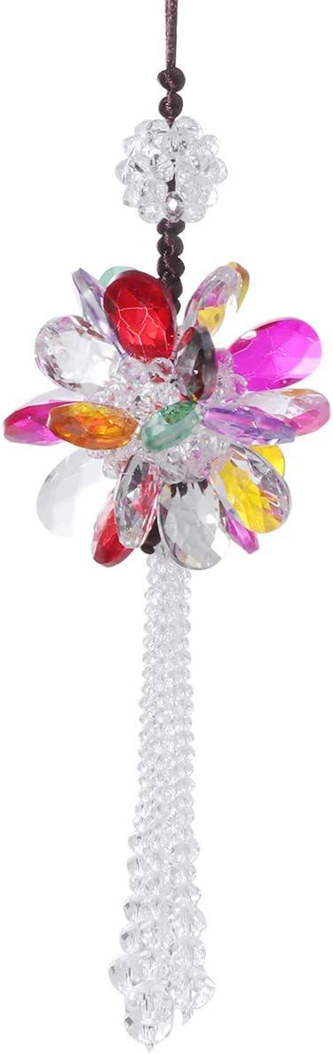 Vosarea Kristall Blume Auto Hängen Ornament Auto Anhänger Charme Zubehör Hängende