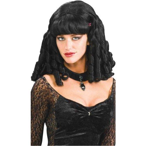 Wind Costume (Forum Novelties Women's Belle Scarlett Character Wig, Brunette, One Size)