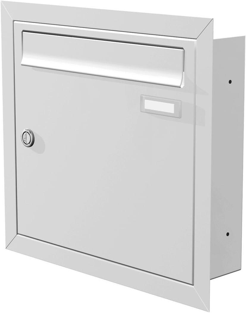 Max Knobloch Bo/îte /à Lettres /à encastrer RAL 7016 12/L en gris