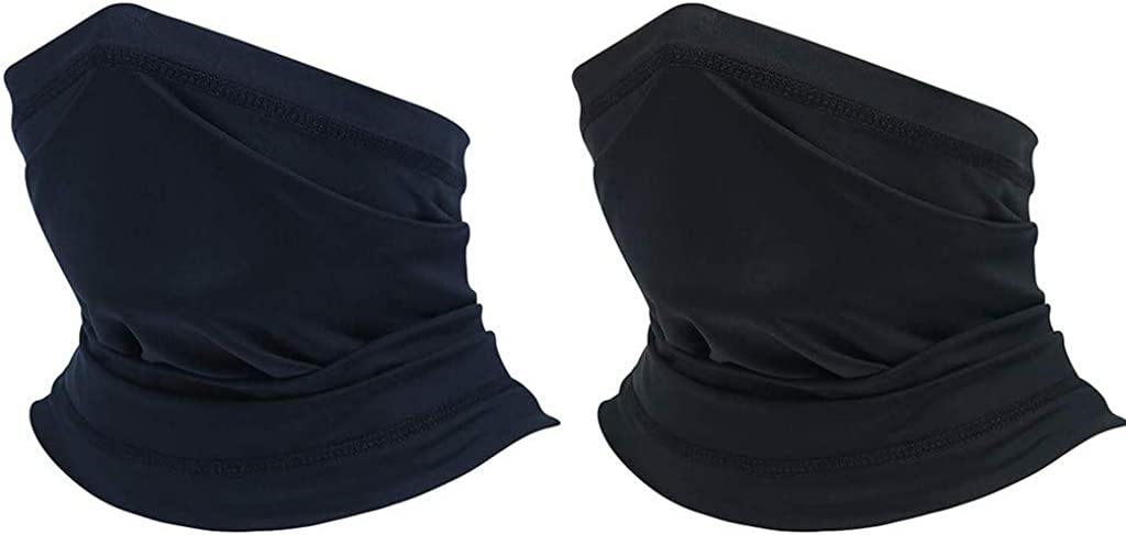 2 Pack MyCozy Multifunctional Headwear Ice Silk Scarf Snood Elastic Neck Warmer Breathable Face Shield Summer Sunscreen UV Protection for Outdoor Cycling All Year Round