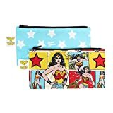 Bumkins Reusable Snack Bag Small 2 Pack, DC Comics, Wonder Woman
