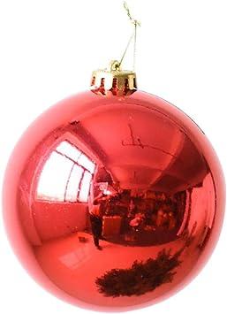 tingtin 15 cm grandes bolas de navidad adornos decoración navideña cristales irrompibles bolas Navidad Pizarra cabezales con ganchos para decoración de árbol de Navidad, fiesta, navidad, Rojo, A: Amazon.es: Bricolaje y herramientas