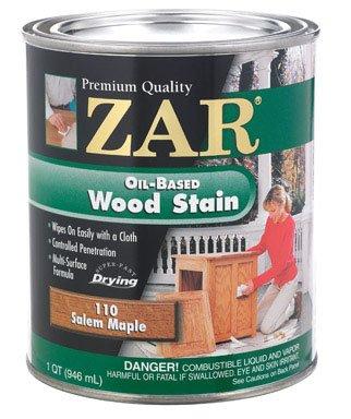 Zar 11012 1 Quart Salem Maple Zar Oil Based Wood Stain ()