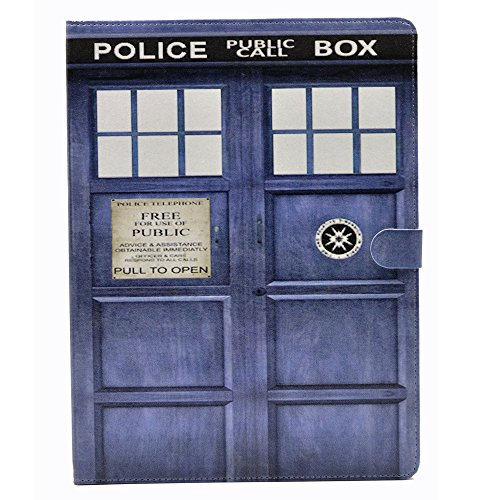 iPad 2/3/4 Case, Doctor Who Tardis Call Box Pattern Leather Stand Case Cover for Apple ipad 2, ipad 3, ipad 4 4th