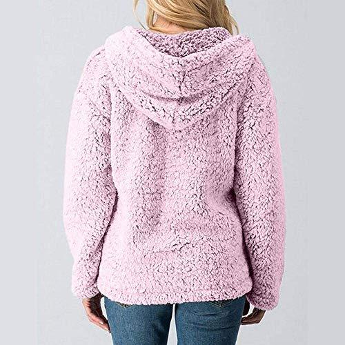 Mode Casual Dames Survêtement De Longues Femmes Hiver Élégant Vestes Manteau Outwear Rose Automne À Manches Marca Capuche Chaud wIAqR