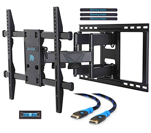 Mounting Dream MD2298 Premium TV Wall Mount Bracket with Full Motion Articulating Arm for most 42-70 Inch LED, LCD and Plasma TV up to VESA 600x400mm and 132 lbs Fits Wood Stud Spacing up to 24 inches