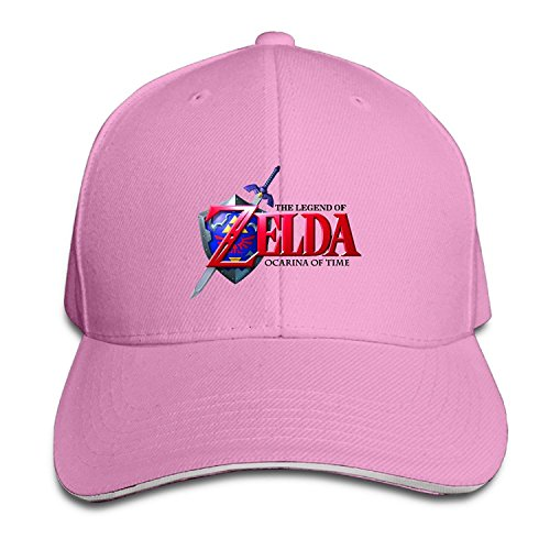 Price comparison product image 101dog The Legend Of Zelda Ocarina Of Time Unisex Adjustable Sandwich Peaked Hat & Cap Navy