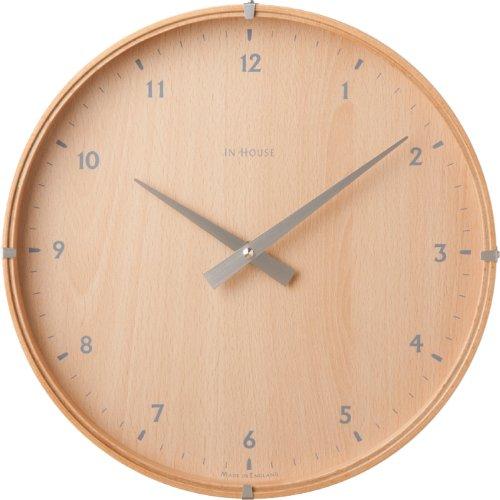 壁掛け時計 IN HOUSE ラミネートウォールクロック ビーチ 44140053 B00C54XYUCビーチ
