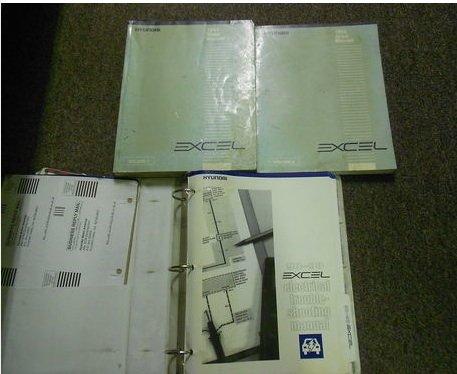 1994 HYUNDAI EXCEL Service Repair Shop Manual Set 3 BOOKS FACTORY DEALERSHIP