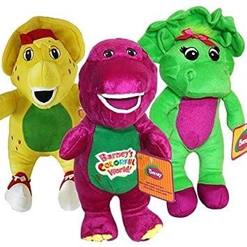 amazon musical barney and friends baby bop bj plush stuffed toys