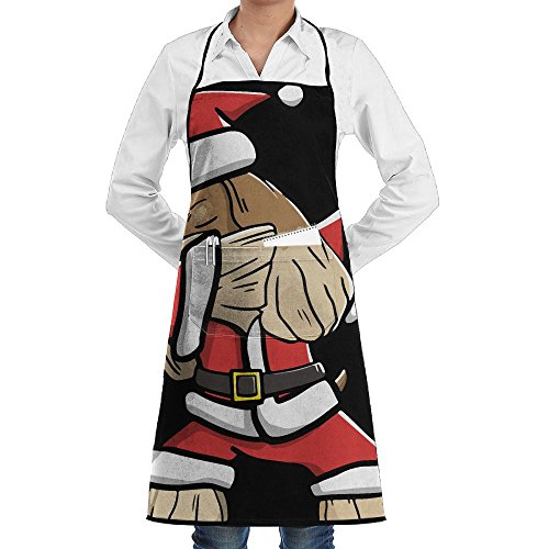 Spaniel Bbq Apron - Novelty Dabbing Cocker Spaniel Ugly Christmas Kitchen Chef Apron With Big Pockets - Chef Apron For Cooking,Baking,Crafting,Gardening And BBQ