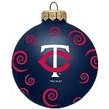"Minnesota Twins Team Color Swirl Ornament 3"""
