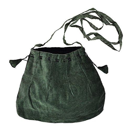 Cordones Bare Medieval funda, Verde, con cinta larga de hombro