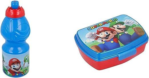 2728; pack vuelta al cole Super Mario; compuesto por botella ...