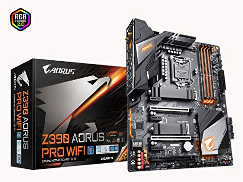 Gigabyte Z390 AORUS PRO WiFi (Intel LGA1151/Z390/ATX/2xM.2 Thermal Guard/Onboard AC Wi-Fi/RGB Fusion/Gaming Motherboard) (Best Cpu Cooler For The Money 2019)