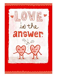 Love is the Answer Wall Decal (Without border) 15 x 22 in