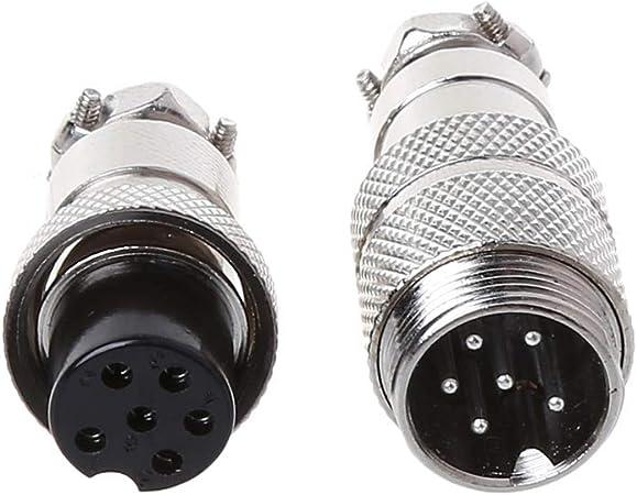 Silber JOYKK Gx16 Butting Aviation Stecker Buchse Stecker 5 Pin