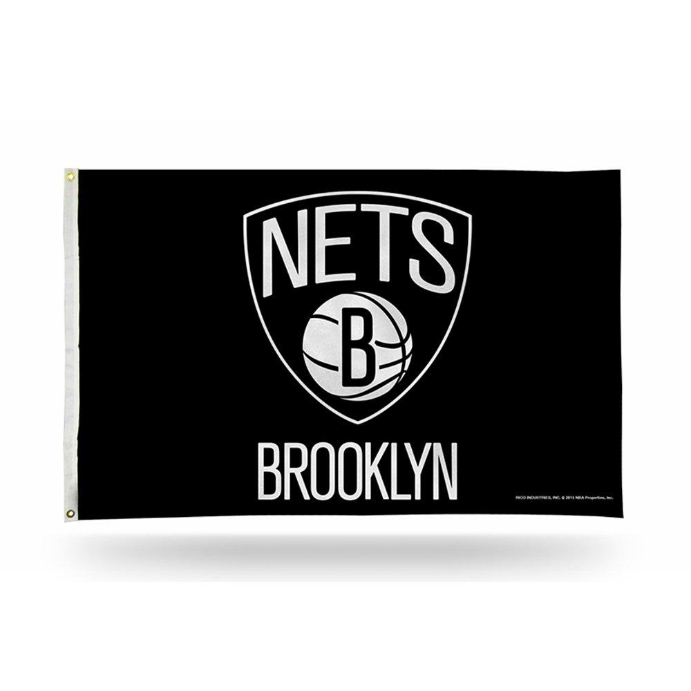 Rico NBA Brooklyn Nets Banner Flag, 3' x 5'