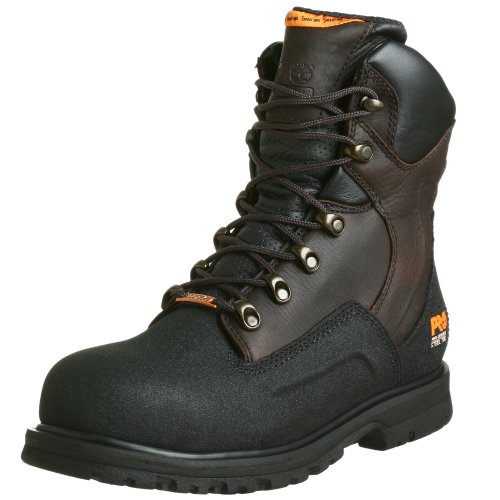 Timberland PRO Mens G48Powerwelt Waterproof 8 Steel-Toe Boot Brown