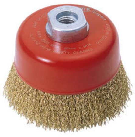 Draper Expert 52636 80 mm x M14 Crimped Wire Cup Brush by Draper
