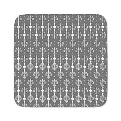 Cozy Seat Protector Pads Cushion Area Rug,Grey,Various Sized Geometric Circles Rounds Chained Spirals Retro Style in Mod Graphic Art Home Decorative,Gray White,Easy to Use on Any Surface ()