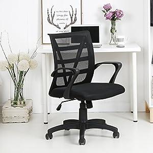 LANGRIA Mid Back Mesh Swivel Chair Home Office Computer Desk Chair,  Ergonomic Design, Mesh Upholstered Seat Pan, Knee Tilt Mechanism, Max  285lbs, ...