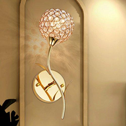 tydxsd europ ische kristall lampe wandbett moderne minimalistische schlafzimmer wohnzimmer flur. Black Bedroom Furniture Sets. Home Design Ideas