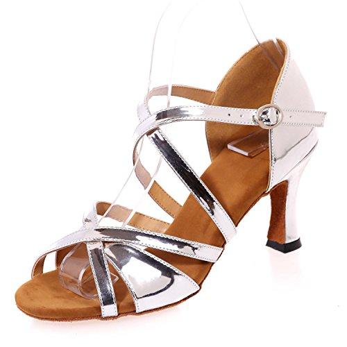 white personnalisable Chaussures Heel High latine de Cool YC Indoor Performance féminine danse L p47qCxBn